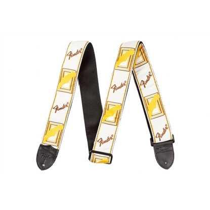 "Fender 2"" Monogrammed Strap White/Brown/Yellow"