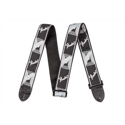 "Fender 2"" Monogrammed Strap Black/Light Grey/Dark Grey"