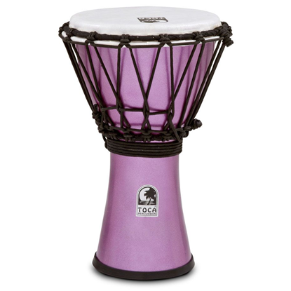 "Bild på Toca Freestyle Colorsound 7"" Djembe  Metallic Violet"