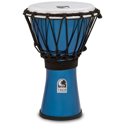 "Bild på Toca Freestyle Colorsound 7"" Djembe  Metallic Blue"