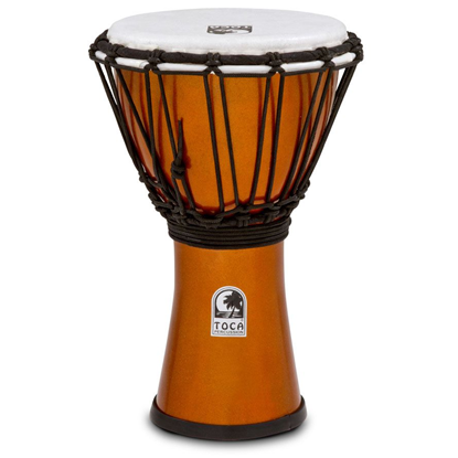 "Bild på Toca Freestyle Colorsound 7"" Djembe  Metallic Orange"