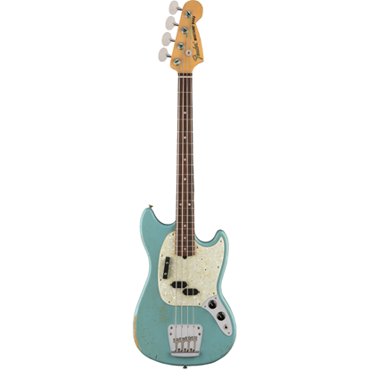 Fender JMJ Road Worn Mustang® Bass Rosewood Fingerboard Faded Daphne Blue