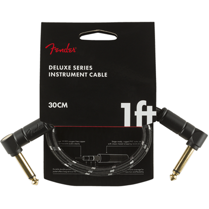 Fender Deluxe Series Instrument Cable 1' Black Tweed