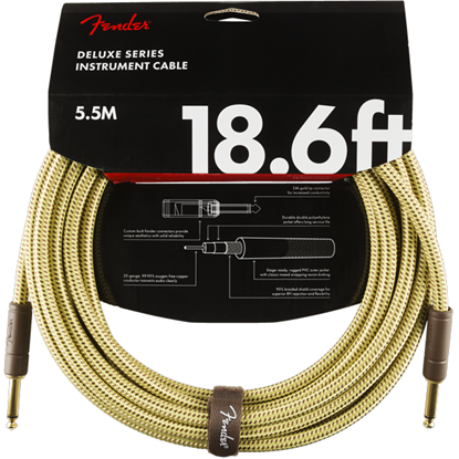 Fender Deluxe Series Instrument Cable 18,6' Tweed