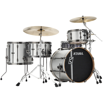 Tama Superstar Hyper-Drive Duo ML40HZBN2 Satin Silver Vertical