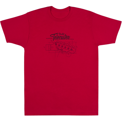 Fender Tele® Blueprint  T-shirt