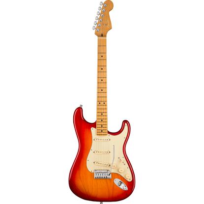 Fender American Ultra Stratocaster® Maple Fingerboard Plasma Red Burst
