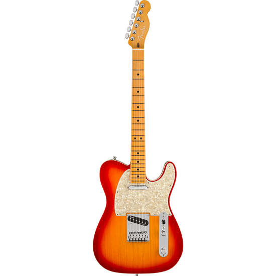 Fender American Ultra Telecaster® Maple Fingerboard Plasma Red Burst