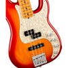 Fender American Ultra Precision Bass® Maple Fingerboard Plasma Red Burst
