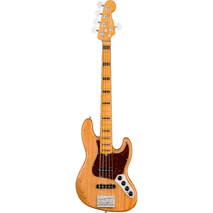 Fender American Ultra Jazz Bass® V Maple Fingerboard Aged Natural