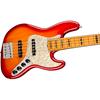 Fender American Ultra Jazz Bass® V Maple Fingerboard Plasma Red Burst