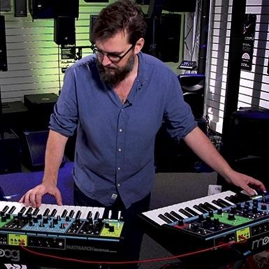 Moog Matriarch och Moog Grandmother - syntar i synk