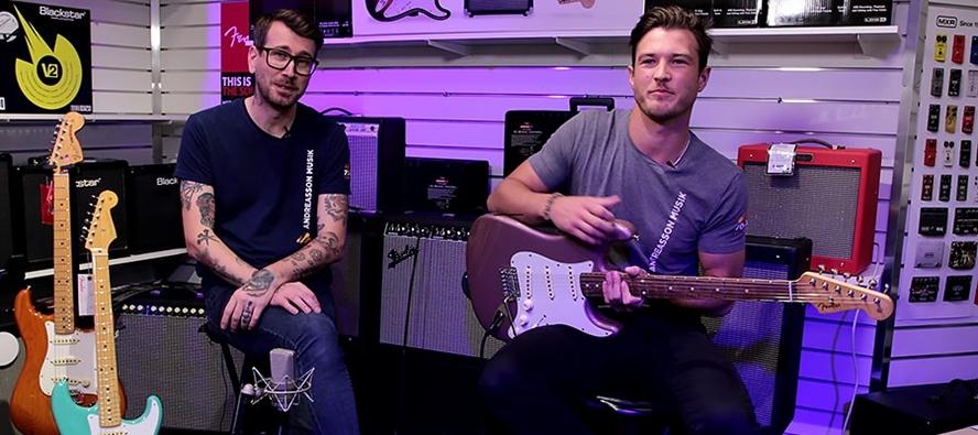 Fender Vintera-elgitarrer med Gustav och Gustaf
