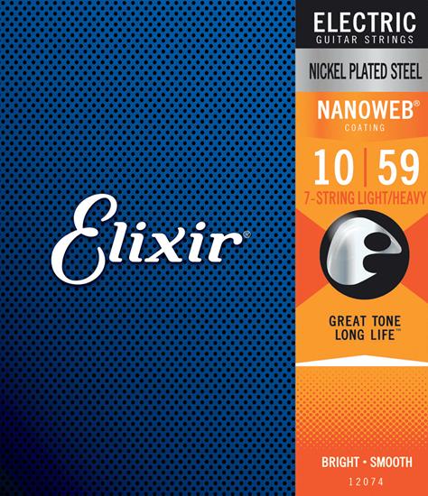 Bild på Elixir Nanoweb® 7-string Light Heavy 010-059