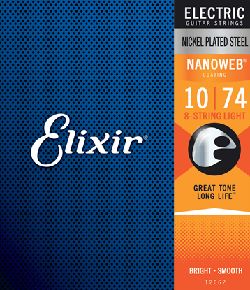 Bild på Elixir Nanoweb® 8-String 10-74 Light