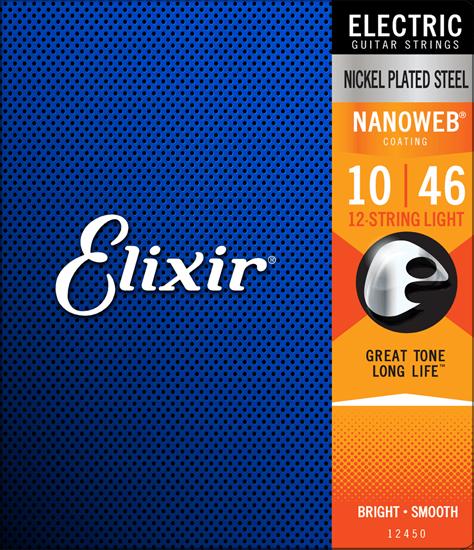 Bild på Elixir Nanoweb® 12-string Light 010-046 / 010-026