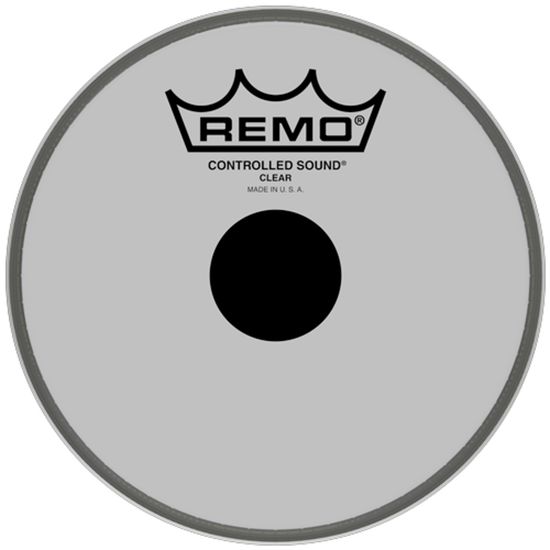Remo Controlled Sound® Clear Black Dot™ Drumhead Top Black Dot™ 6""