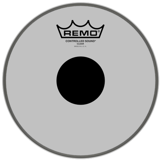 Remo Controlled Sound® Clear Black Dot™ Drumhead Top Black Dot™ 8""