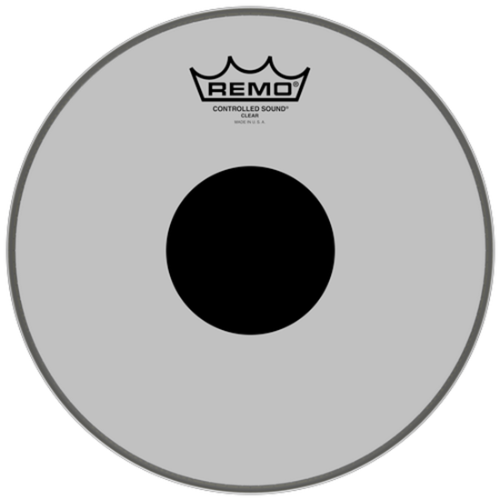 """Remo Controlled Sound® Clear Black Dot™ Drumhead Top Black Dot™ 10"""""""