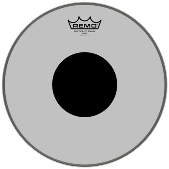 Remo Controlled Sound® Clear Black Dot™ Drumhead Top Black Dot™ 12""