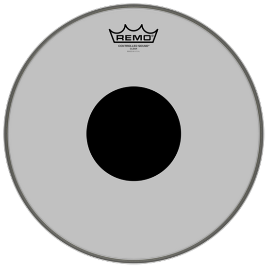 Remo Controlled Sound® Clear Black Dot™ Drumhead Top Black Dot™ 13