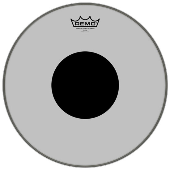 Remo Controlled Sound® Clear Black Dot™ Drumhead Top Black Dot™ 14""