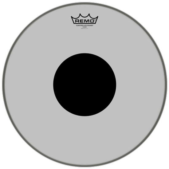 Remo Controlled Sound® Clear Black Dot™ Drumhead Top Black Dot™ 15""