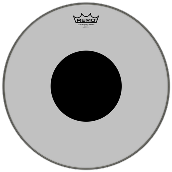 Remo Controlled Sound® Clear Black Dot™ Drumhead Top Black Dot™ 16""
