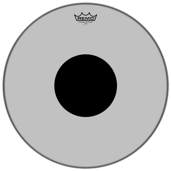 """Remo Controlled Sound® Clear Black Dot™ Drumhead Top Black Dot™ 18"""""""