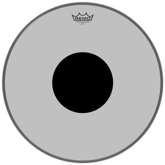 Remo Controlled Sound® Clear Black Dot™ Bass Drumhead Top Black Dot™ 18""