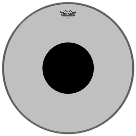 Remo Controlled Sound® Clear Black Dot™ Bass Drumhead Top Black Dot™ 20""