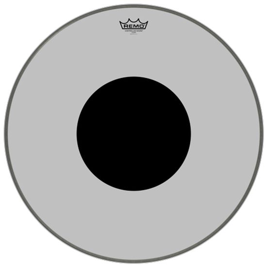 Remo Controlled Sound® Clear Black Dot™ Bass Drumhead Top Black Dot™ 22""