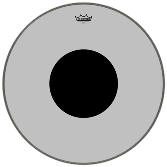 """Remo Controlled Sound® Clear Black Dot™ Bass Drumhead Top Black Dot™ 24"""""""
