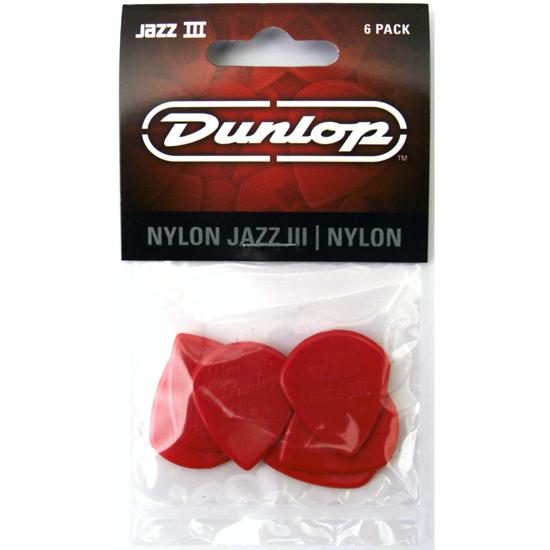 Dunlop Jazz III 47P3N Plektrum 6-pack