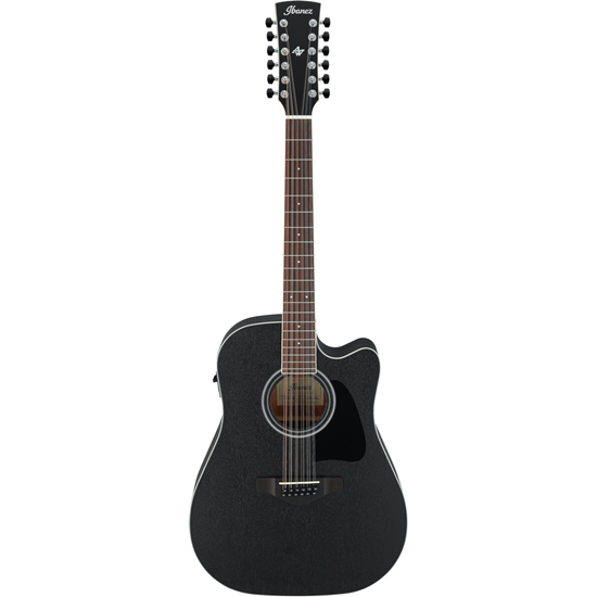Ibanez AW8412CE-WK Weathered Black Open Pore