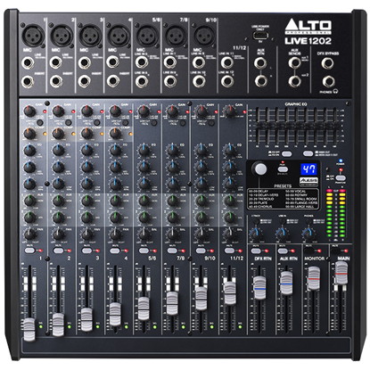 Alto LIVE 1202 Professional 12-Channel 2-Bus Mixer