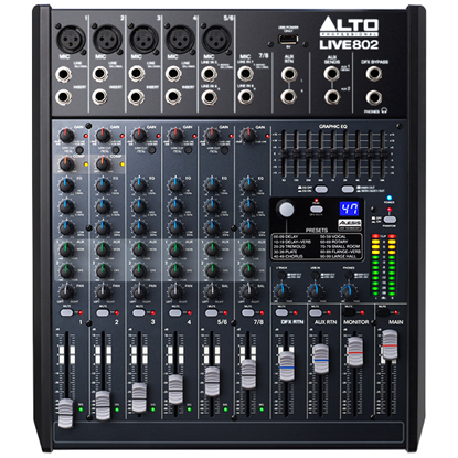 Alto LIVE 802 Professional 8-Channel 2-Bus Mixer