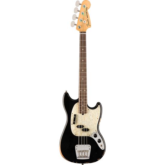 Fender JMJ Road Worn Mustang® Bass Rosewood Fingerboard Black