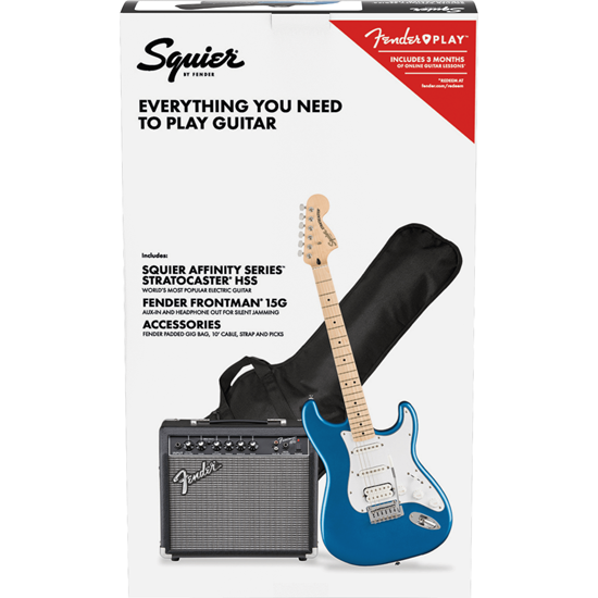Squier Affinity Series™ Stratocaster® HSS Pack Lake Placid Blue