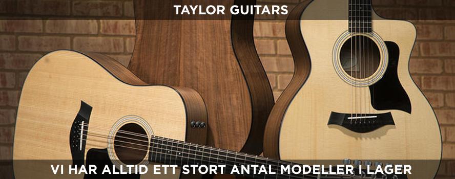 Vi har alltid ett stort sortiment av gitarren från Taylor i vår butik