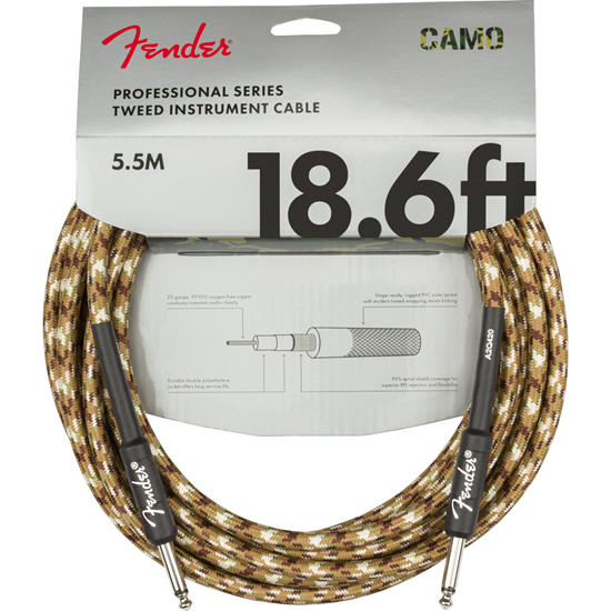 Fender Professional Series Instrument Cable 18,6' Desert Camo