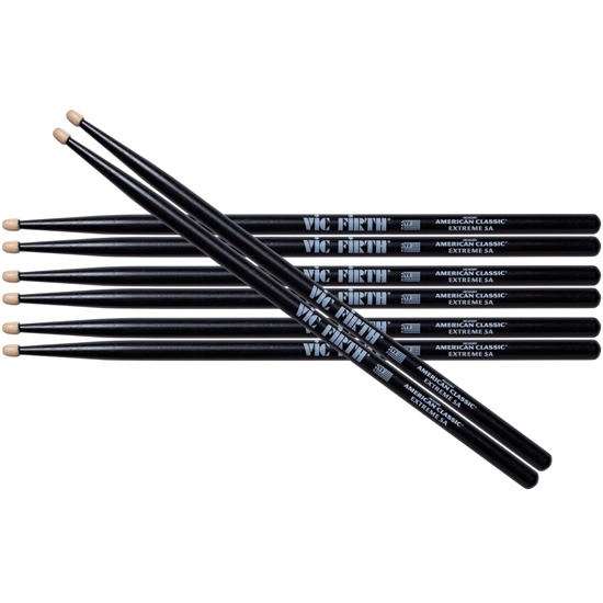 Vic Firth American Classic® Extreme 5A Black Value Pack