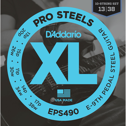 D'Addario EPS490 Pro Steels E-9th Pedal Steel Strings