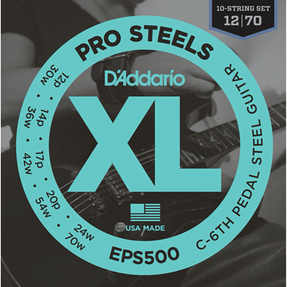 D'Addario EPS500 Pro Steels C-6th Pedal Steel Strings