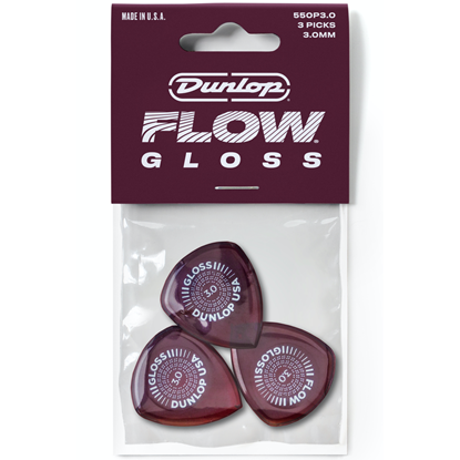 Dunlop Flow Gloss 550P300 Plektrum 3-pack