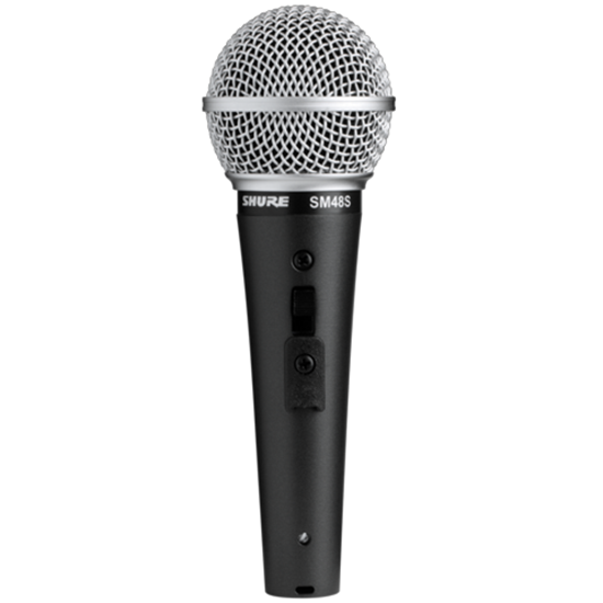 Shure SM48S-LC Cardioid Dynamic Vocal Microphone With On/Off Switch