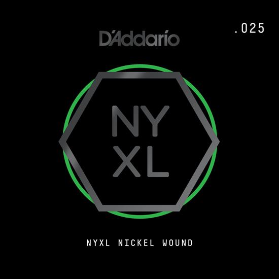 D'Addario NYNW025 NYXL Nickel Wound