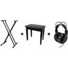 Tillbehörspaket med stativ, möbelpall och hörlur. OBS! Säljs separat.