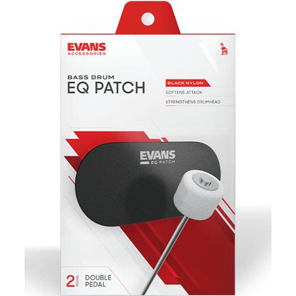 Evans Patch Black Nylon Double Patch