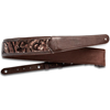 """Taylor 2.25"""" Vegan Leather Guitar Strap Chocolate Brown Sequin"""